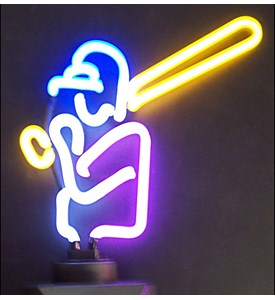 Baseball Neon Sculpture Image
