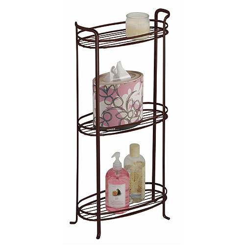 Three Tier Bathroom Stand: Bronze In Bathroom Shelves