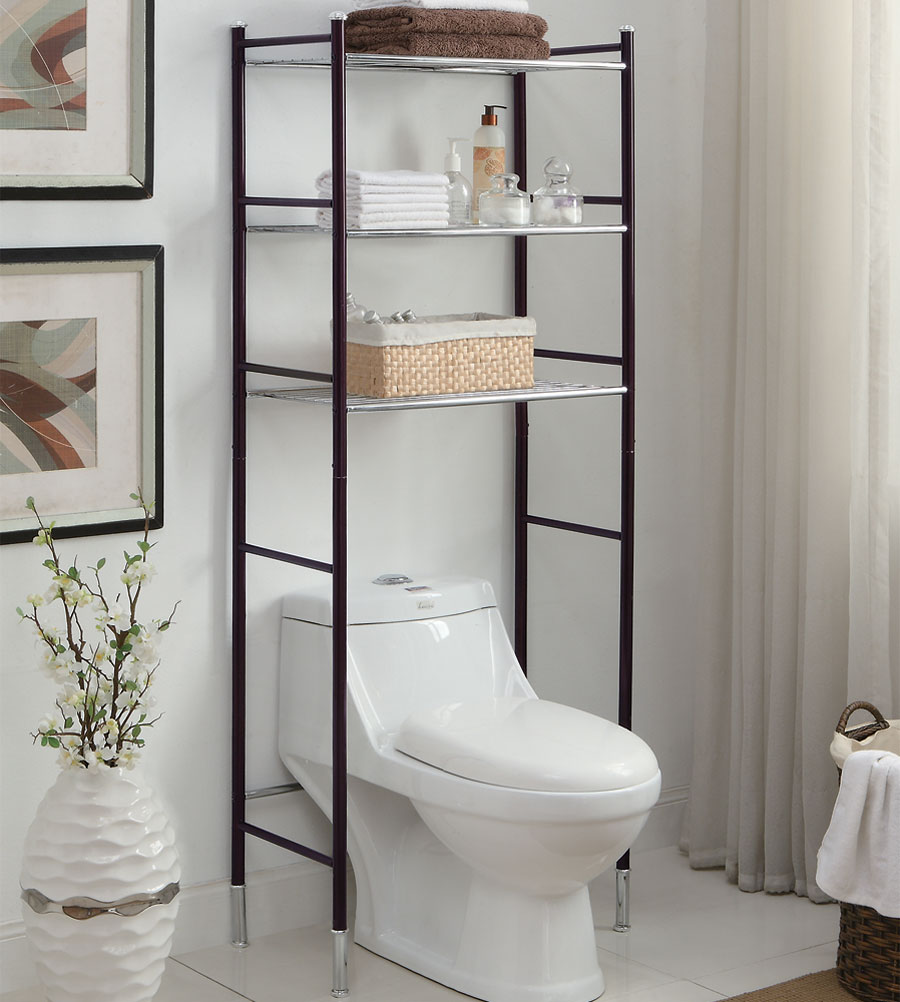 Perfect Over The Toilet Etagere · Over The Toilet Space Saver · Over Toilet Bathroom  Shelves ...