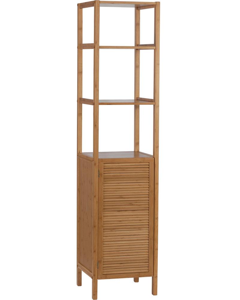 bathroom storage tower ecostyle in bathroom shelves. Black Bedroom Furniture Sets. Home Design Ideas