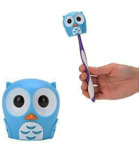 Bathroom Toothbrush Holder - Owl Image