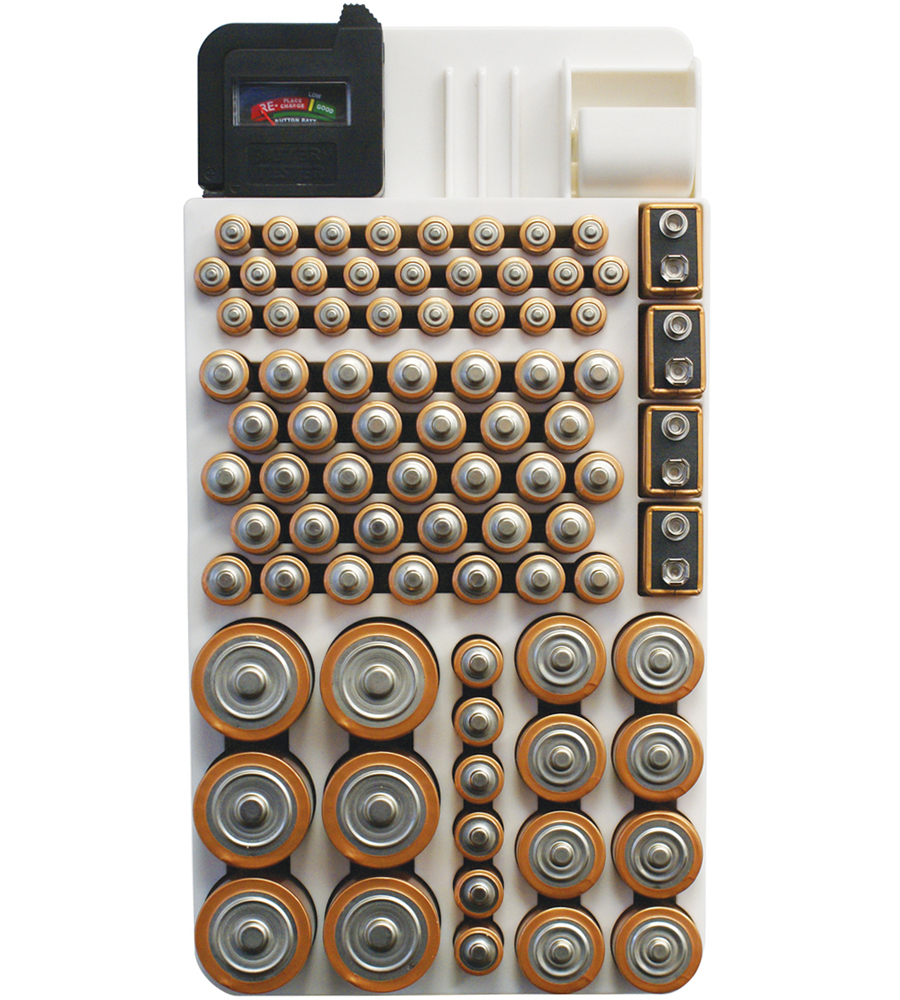 Battery Storage Rack In Battery Organizers