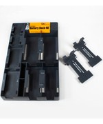 Battery Storage Rack with Battery Tester - Black
