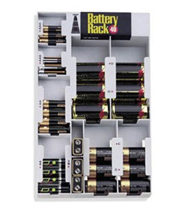 Battery Rack 40 With Tester - Gray Image