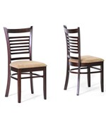 Baxton Studio Cathy Brown Wood Modern Dining Chair - Set of 2 by Wholesale Interiors