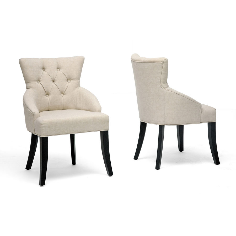 ... Wholesale Interiors Inc · Halifax Linen Dining Chairs   Beige ...