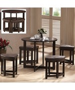 Rochester Bar Table Set with Nesting Stools