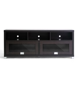 Baxton Studio Swindon Modern TV Stand with Glass Doors by Wholesale Interiors Image