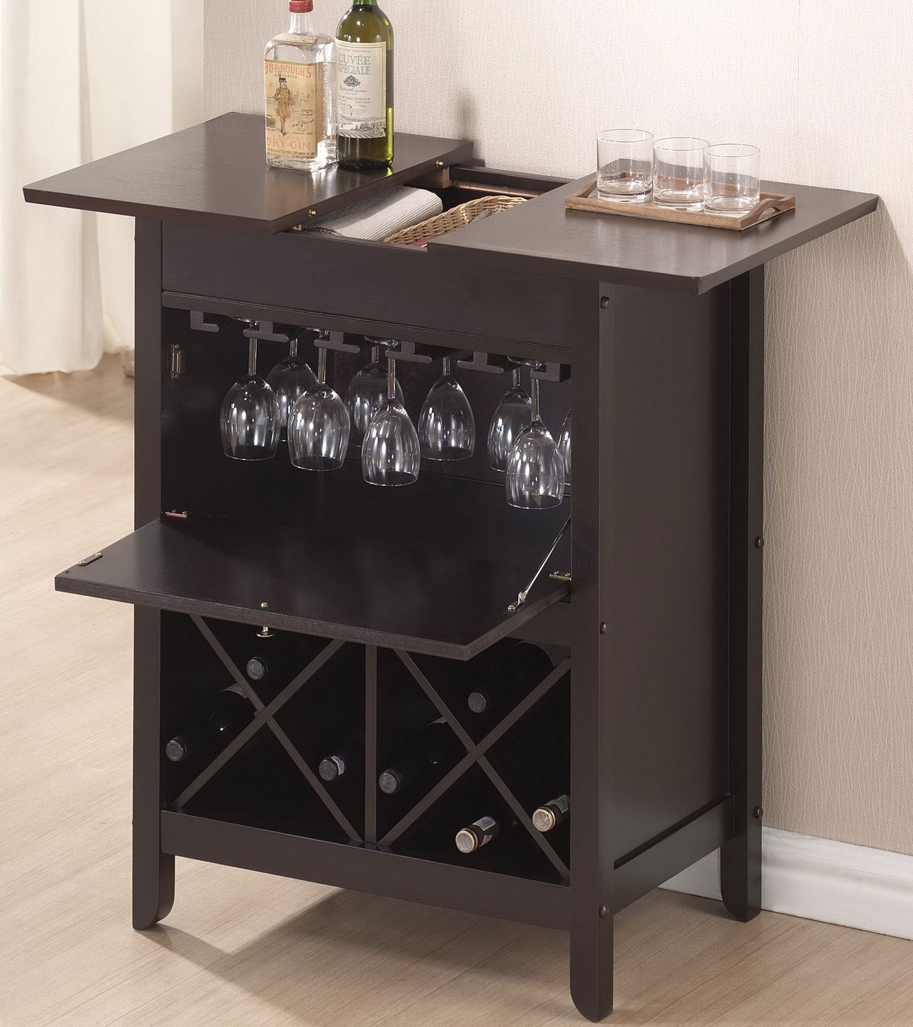 Baxton Studio Tuscany Modern Dry Bar And Wine Cabinet By