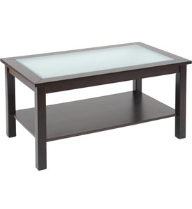 Bay Shore Coffee Table with Glass Insert Image