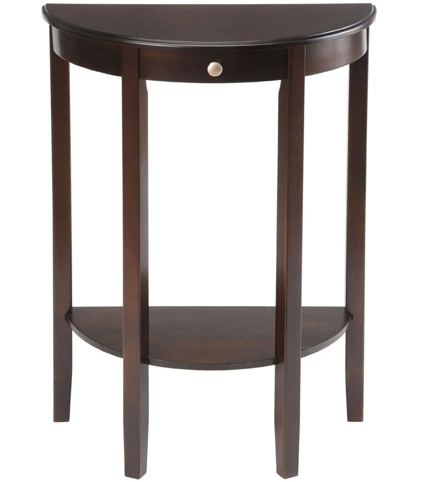 Bay shore half circle console table in accent tables - Half table entryway ...