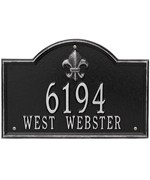 Bayou Vista Standard Address Plaque