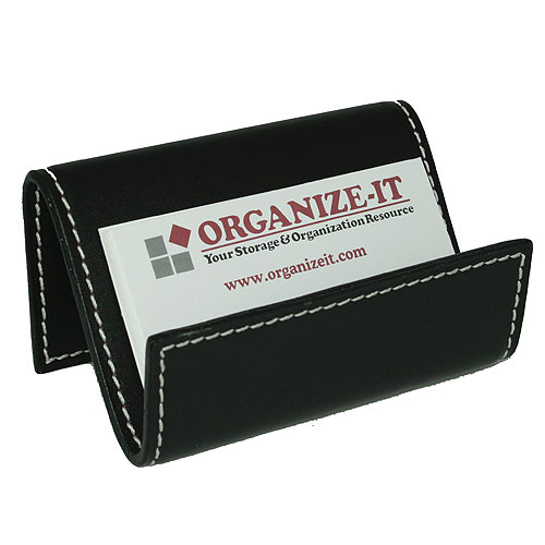 Business Card Holder Genuine Leather in Desk Accessories