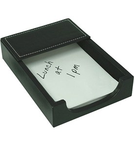 Genuine Leather Memo Pad Holder - Black Image