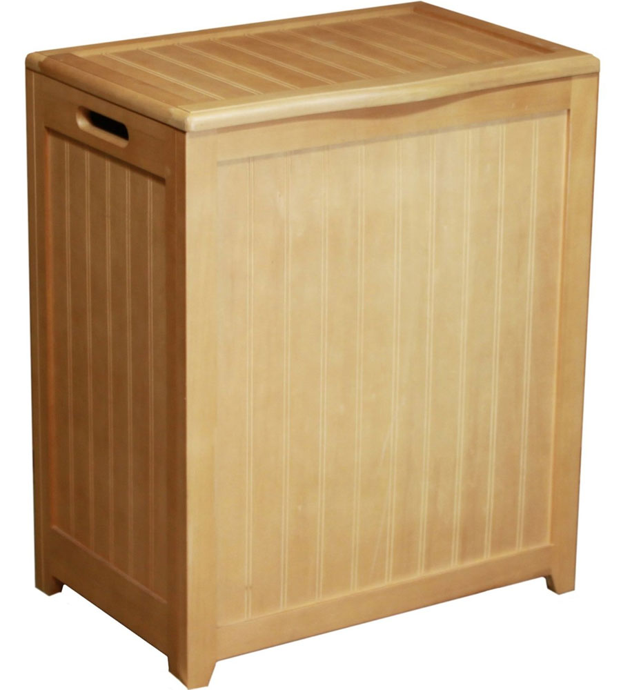 Beadboard hamper with liner natural in clothes hampers - Way laundry hamper ...