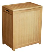 Beadboard Hamper with Liner - Natural