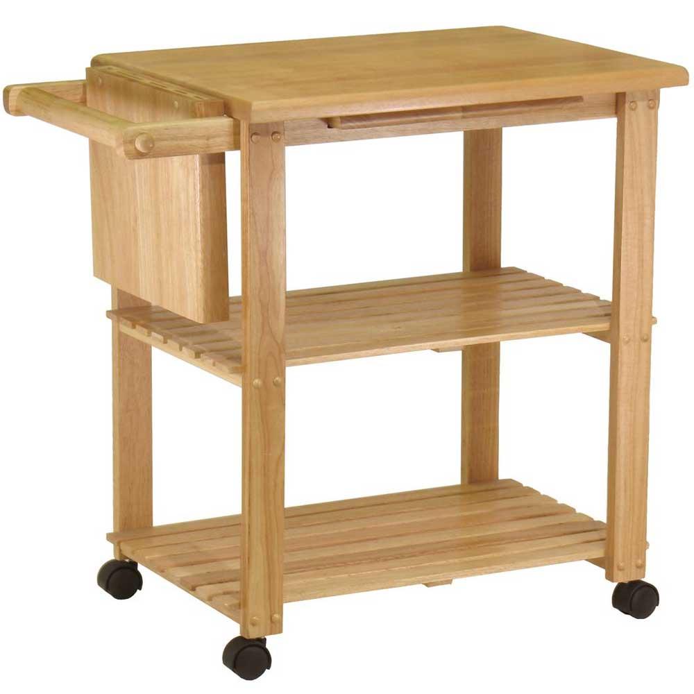 kitchen utility cart beechwood