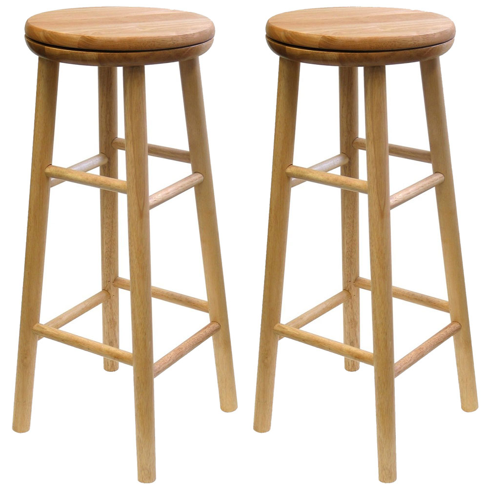 Beechwood Swivel Bar Stool  sc 1 st  Organize-It : wooden swivel bar stool - islam-shia.org