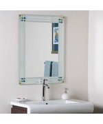 Bejeweled Frameless Bathroom Mirror by Decor Wonderland