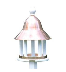 Bell Feeder with Polished Copper Roof by Good Directions Image