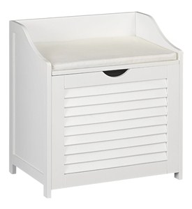 Bench with Hamper - White Image