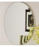 Beveled Oval Frameless Mirror