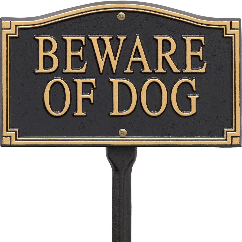 Beware Of Dog Yard Sign In Specialty Plaques