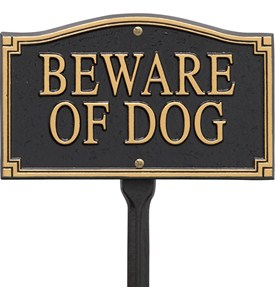 Beware of Dog Yard Sign Image