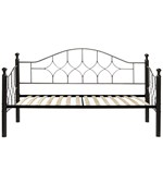 Bianca Hammered Metal Daybed