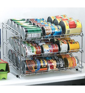 Chrome Wire Can Storage Rack Image