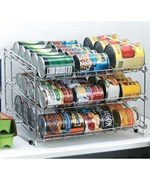 Chrome Wire Can Storage Rack