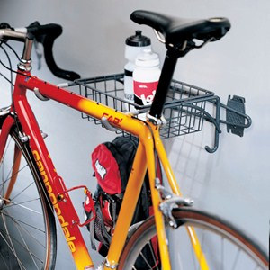 Grid or Wall Mount Bike Rack and Basket Image