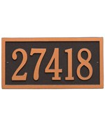 Bismark Standard Wall Address Plaque