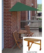Bistro 5-Pc Patio Set with 9 Ft. SolarVista Off-the-Wall-Brella by Blue Star Group