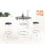Bistro Table and Bar Stools - Soda Fountain Style by Coaster