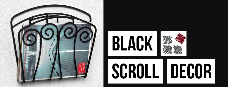 Black Scroll Decor