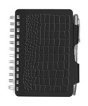 Black Crocodile Password Book with Pen