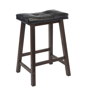 Black Cushion Counter Stool - by Winsome Trading Image