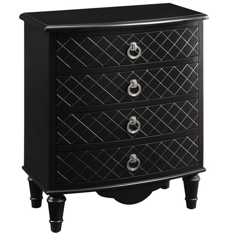 Contemporary Bombay Chest Black Diamond In Accent Chests