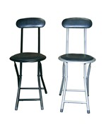 Black Folding Chairs - Set of 2 by ORE International