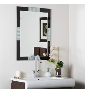 Black Frameless Wall Mirror Image