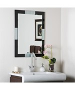 Black Frameless Wall Mirror