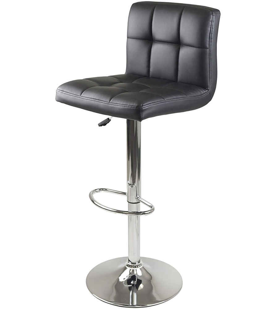 Black Grid Back Bar Stool In Modern Bar Stools