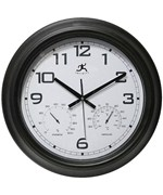 Black Metal Indoor-Outdoor Wall Clock