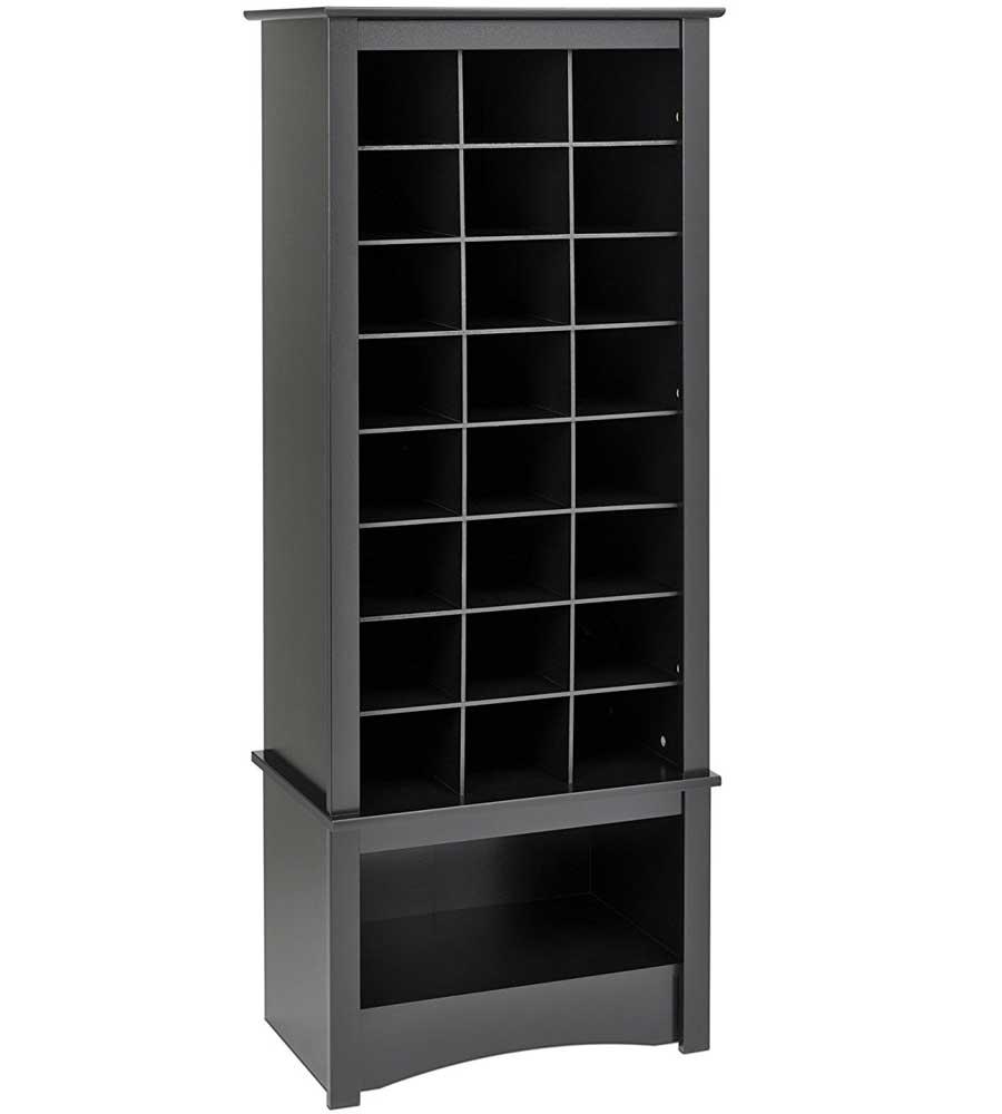 Tall Shoe Cubbie Cabinet Black In Shoe Cubbies