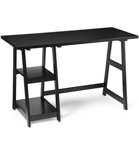 Black Trestle Desk Image