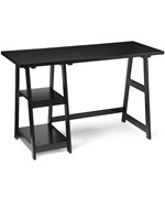 Black Trestle Desk
