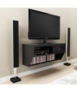 Black TV Stand and Entertainment Console