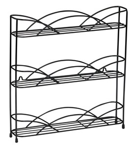 Black Wire Wall-Mount Spice Rack Image