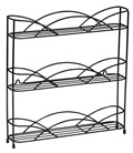 Black Wire Wall-Mount Spice Rack